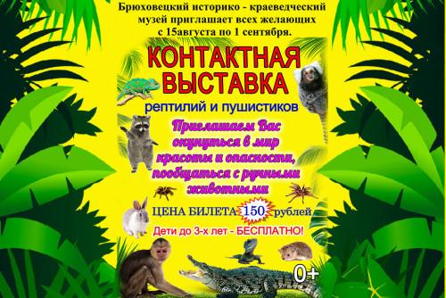 Контактная выставка рептилий и пушистиков